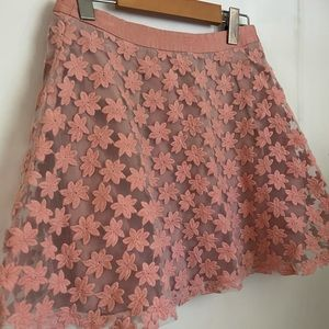 Topshop Pink Frilly Skirt